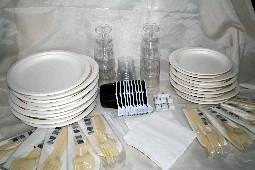 Kit vaisselle jetable 10 personnes